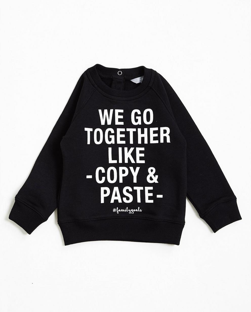 Sweater met opschrift - #familystoriesjbc - JBC